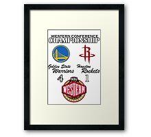 NBA Western Conference Championship Framed Print