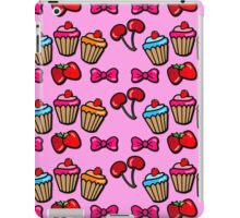 Cute sweet cupcakes, cherries & strawberries iPad Case/Skin