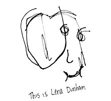 A portrait of Lena Dunham by sweepstakes
