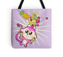 Cute baby zoo animal monkey playing maracas and dancing Tote Bag