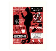 Doctor Who - 11th Doctor Quotes Art Print