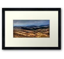 The Tuscany valley Framed Print