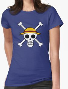 One Piece Flag Womens Fitted T-Shirt
