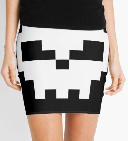 Pirate Pixel Skull  Mini Skirt
