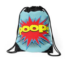 Funny Comic Word Starburst POOP Drawstring Bag