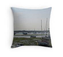 Low Tide at Emsworth Throw Pillow