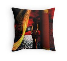 Red Skies  紅色天空 Throw Pillow