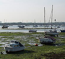 Emsworth Harbour at Low tide by Clive Midson