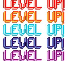 Fun Computer Game Message Level Up! by Tee Brain Creative