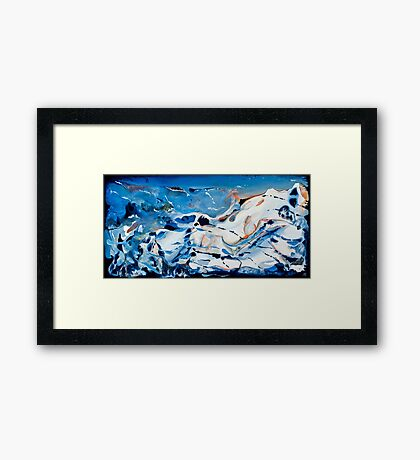 'The Whales'.........Acrylic Abstract  Framed Print