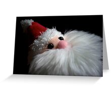 Furry Santa Greeting Card