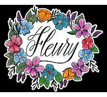 Fleury Wreath (Black) Photographic Print
