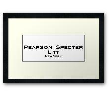 Suits Pearson Specter Litt Logo Framed Print