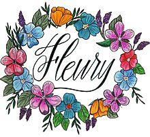 Fleury Wreath (White) by fourgoalspecial