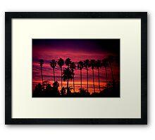 A Frame of Hollywood Sunsets. Framed Print