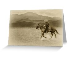 Riding in the Desert Antiqued Greeting Card