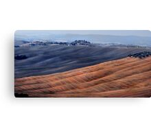 Tuscany comp.and graphic in autumn Canvas Print