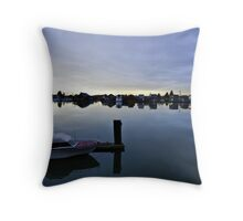 Haven on the River Throw Pillow