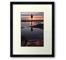 """Anthony Gormley Another Place """"Where the sun don't shine"""" Framed Print"""