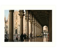 Under the arches Art Print