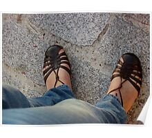Feet on Pavement Poster