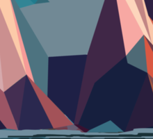 Night Mountains No. 4 Sticker