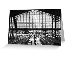 Alone on the platform Greeting Card