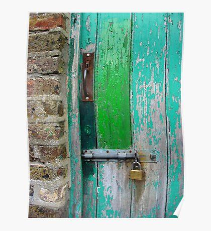 Weathered Door Poster