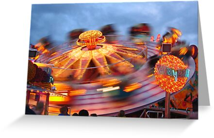 In a spin - Munich Oktoberfest  by Jeanne Horak-Druiff