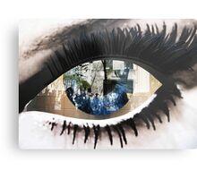 Eye with New York City Reflection Metal Print