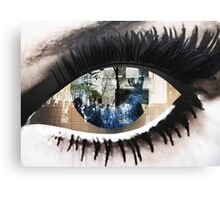 Eye with New York City Reflection Canvas Print
