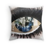 Eye with New York City Reflection Throw Pillow