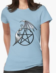 Pentacle Wings Womens Fitted T-Shirt