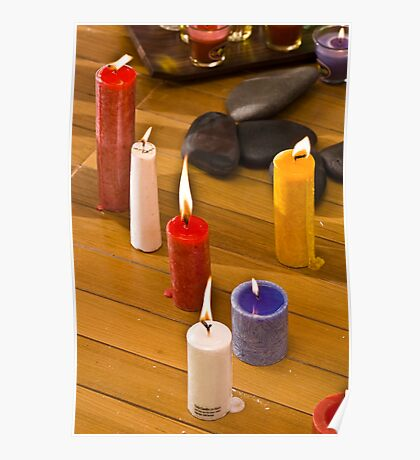 Candles On The Floor Poster