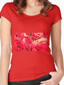 Red Roses Women's Fitted Scoop T-Shirt