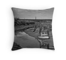 Up The Creek V Throw Pillow