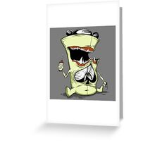 Spade Chested Drunkard Greeting Card