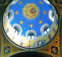 Trieste, Italy - Orthodox Cathedral Dome from Inside by Igor Pozdnyakov