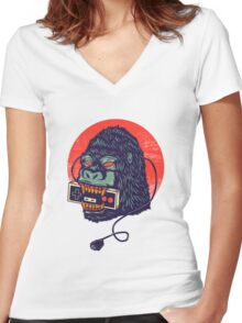 kong Women's Fitted V-Neck T-Shirt