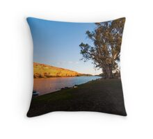 Swan Reach Cliffs Throw Pillow