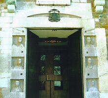 Trieste, Italy - a Church Door by Igor Pozdnyakov