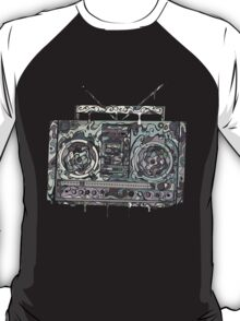 Boom Box Gray T-Shirt