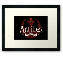 Antilles School of Flying (Dark) Framed Print