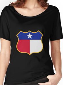Texas Sign Shield / Tejas Signo Escudo Women's Relaxed Fit T-Shirt