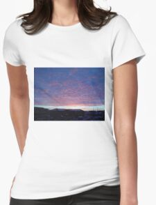 Cloud Dusk Blankets Womens Fitted T-Shirt