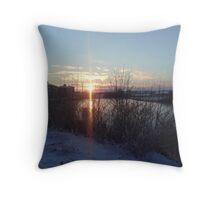Across The Snowy River Throw Pillow