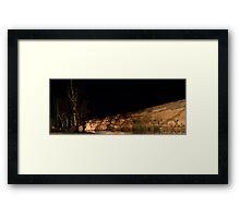 Swan Reach Cliffs at night Framed Print