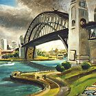 SYDNEY HARBOUR BRIDGE, '80'S by HAMISH CUMING