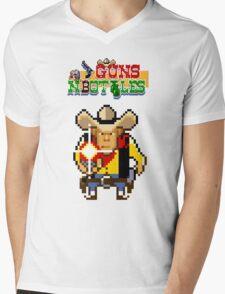 Guns n' bottles Mens V-Neck T-Shirt