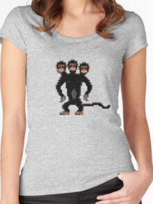 Look behind you! (Monkey Island) Women's Fitted Scoop T-Shirt